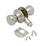 Stainless  Knob/Knob  Passage Lockset