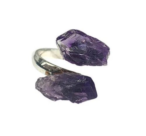 Amethyst Rough Adjustable Ring