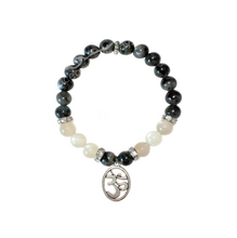 """Moon Energy"" Bracelet - Moonstone & Black Labradorite"