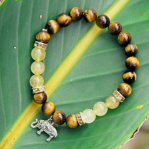 """Strength & Luck"" Bracelet - Brown Tiger's Eye"