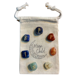 Chakra Stones & Runes Set for Balance & Alignment