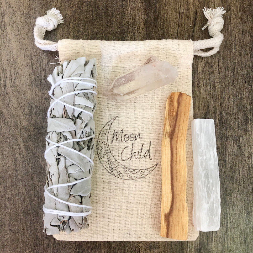Raising Your Vibration Smudging & Clearing Kit (Travel Sized)
