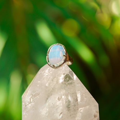 Opalite Gemstone Adjustable Ring