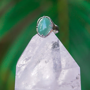 Aventurine Gemstone Adjustable Ring