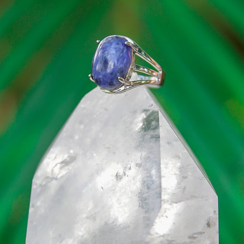 Sodalite Gemstone Adjustable Ring