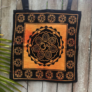Handmade Eco-Friendly Om Tote Bag