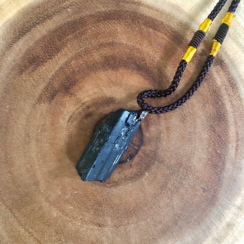 Black Tourmaline Rope Necklace