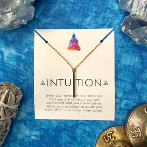 """Intuition"" Affirmation Necklace"