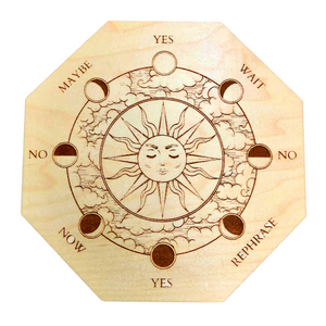 "5"" Maple Wood Pendulum Sun Moon Board"