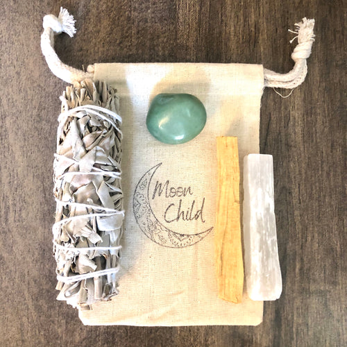 Prosperity & Abundance Smudging & Clearing Kit (Travel Sized)