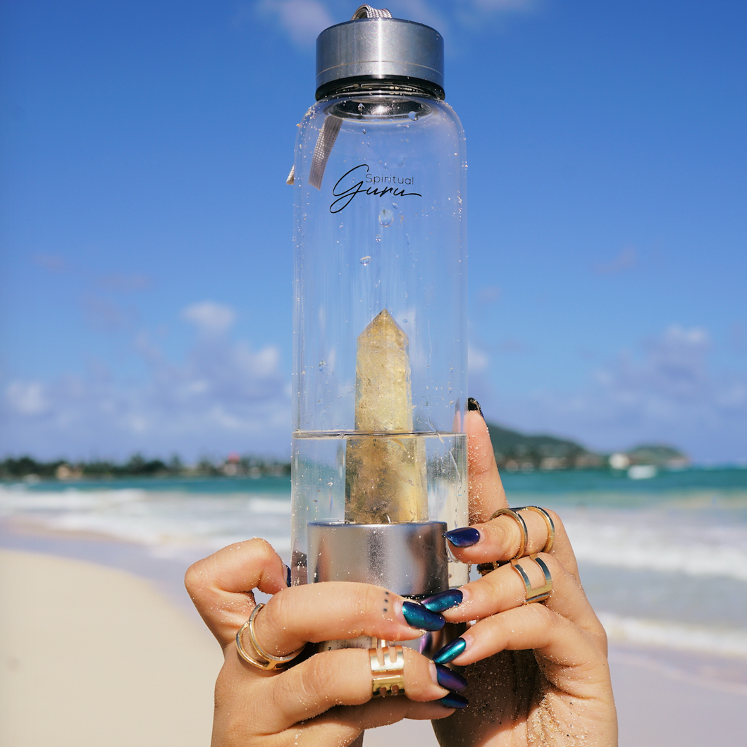 Citrine Crystal Elixir Water Bottle