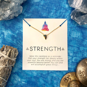 """Strength"" Affirmation Necklace"