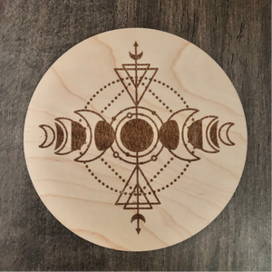 "5"" Maple Wood Crystal Grid"