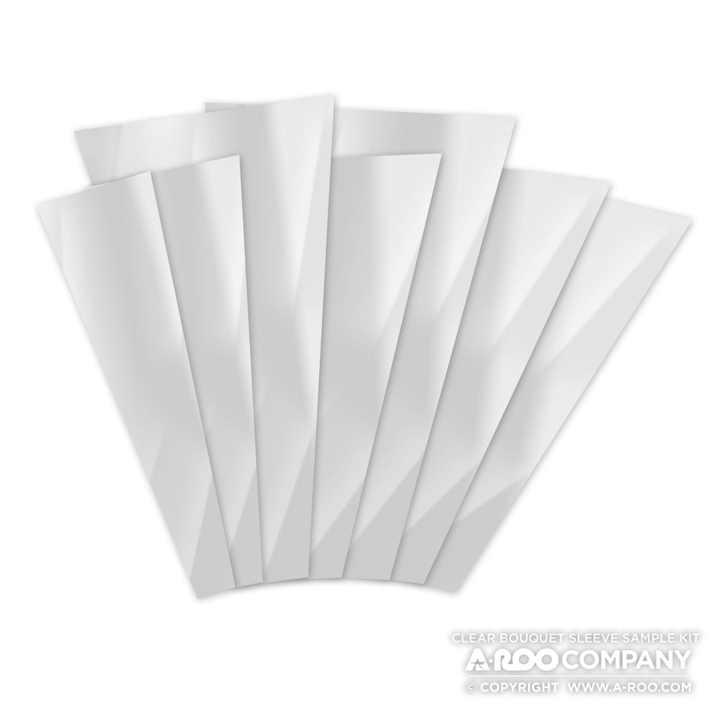 Sample Kit - Clear Plastic Bouquet Sleeves