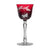 Butterfly Ruby Red White Wine Glass