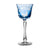 Butterfly Light Blue Red Wine Glass