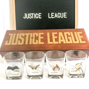 Justice League Scotch Glass Set - CTM Carepackages