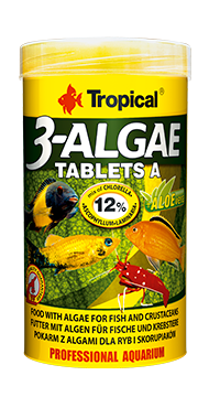 Tropical 3algae Tablets A Adhesive Tablets For All Fish (5 Mm Tablets) 36g