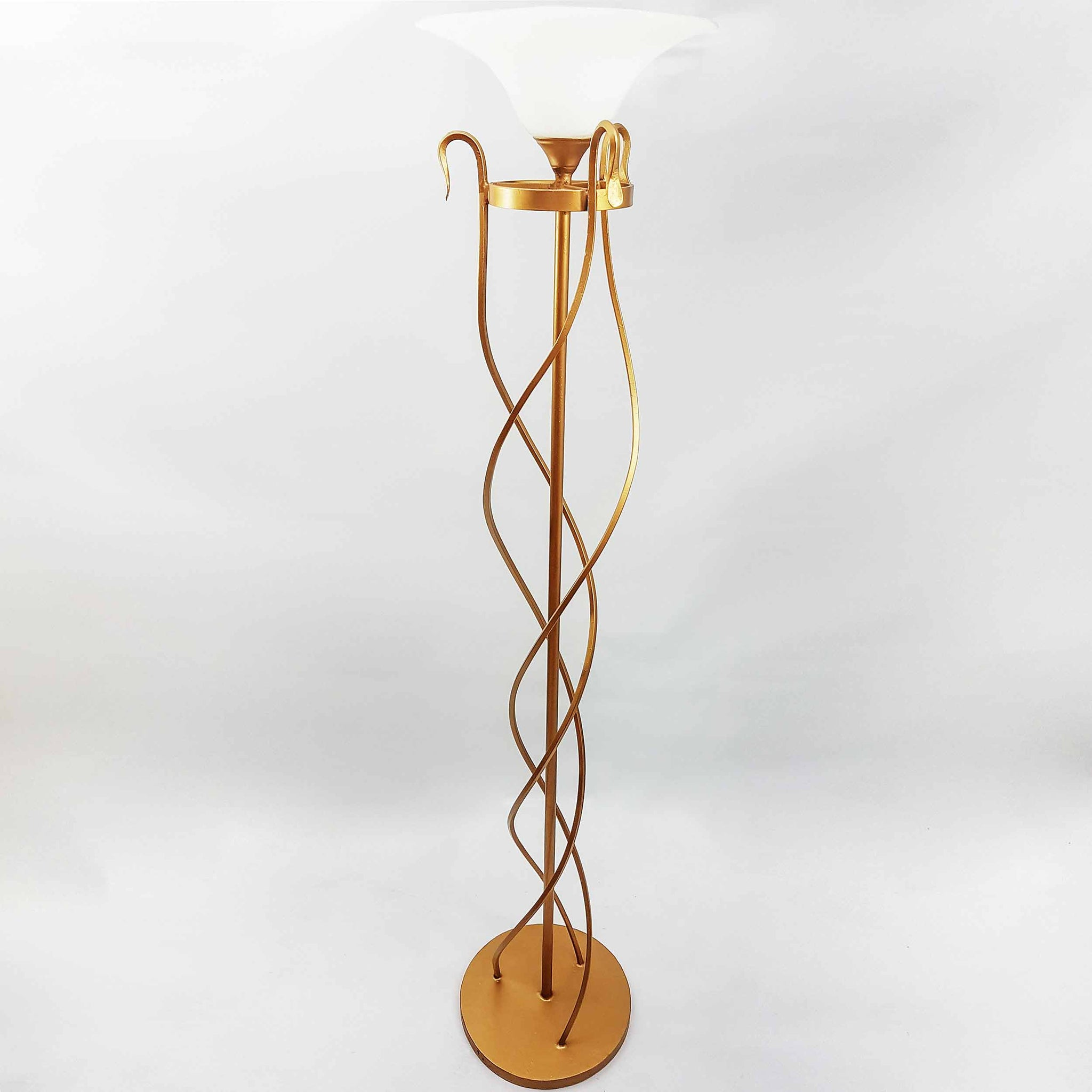 Beautiful decorative twist floor lamp for illuminating living spaces twist floor lamp mozeypictures Choice Image
