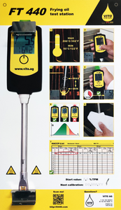 Oil tester storage board