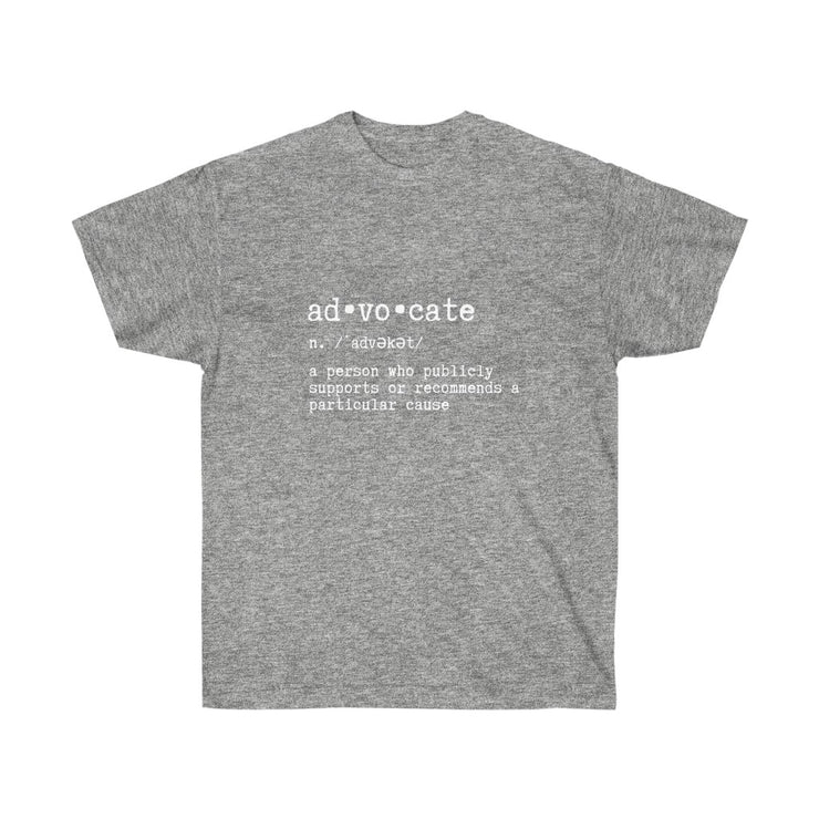 Advocate Definition Unisex Ultra Cotton Tee - RARE.