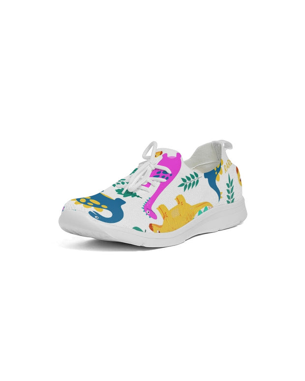 Dino All Over Print Women's Lace Up Flyknit Shoe - RARE.