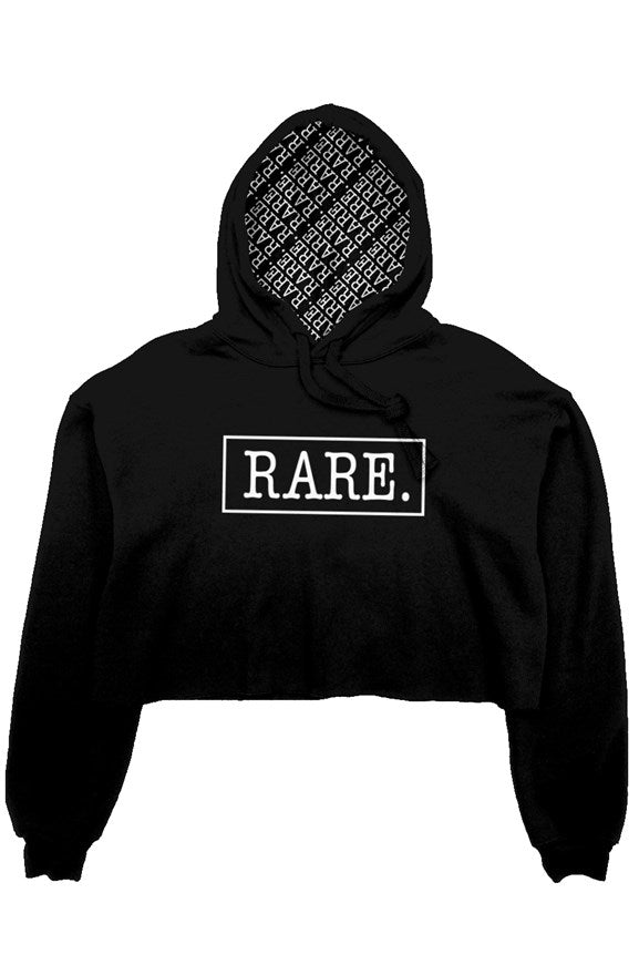 Repeated RARE. Cropped Signature Logo Hoodie With Lined Hood - RARE.
