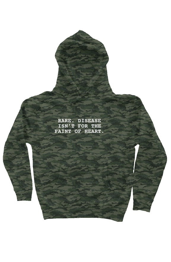 Faint of Heart Camo Hooded Sweatshirt - RARE.