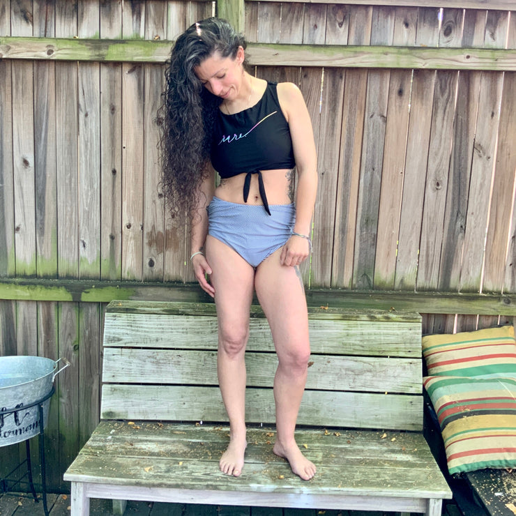 Scripted RARE. High waisted two piece bathing suit - RARE.