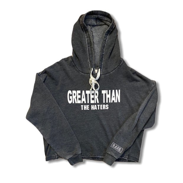 Let the haters Hate Cropped Hoodie