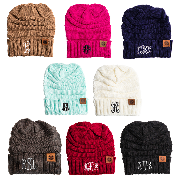 Personalized Monogrammed Fashion Beanie - RARE.
