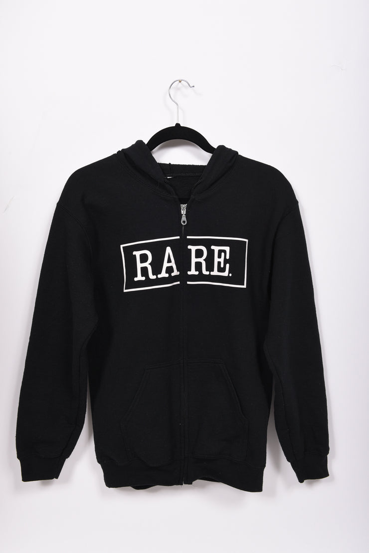 RARE. Signature Logo Unisex Fleece Zip Up Sweatshirt