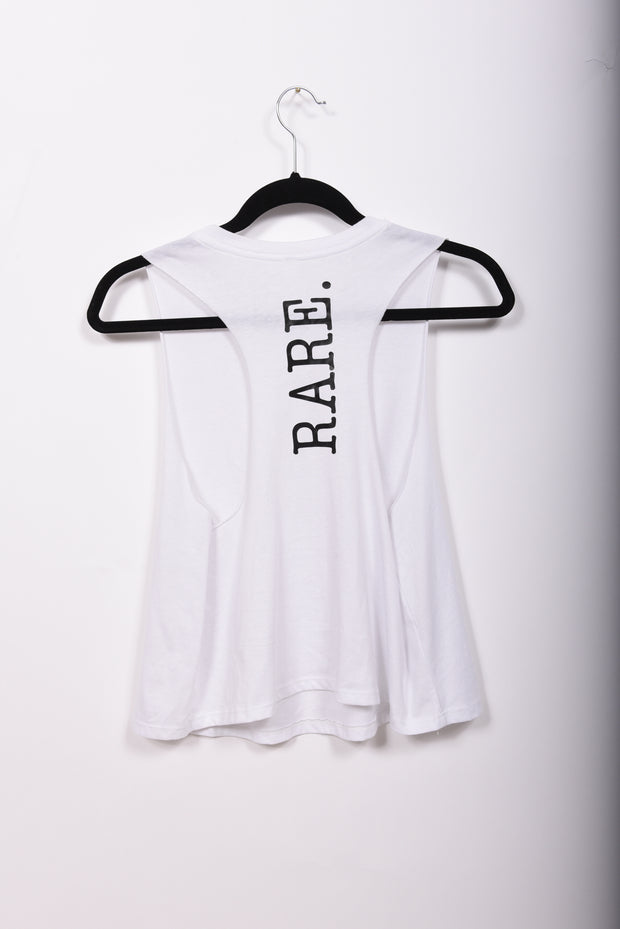 Be RARE. Racerback Cropped Muscle Tank - RARE.