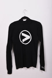 Greater Than Logo Lightweight Hooded Long Sleeve Tee - RARE.