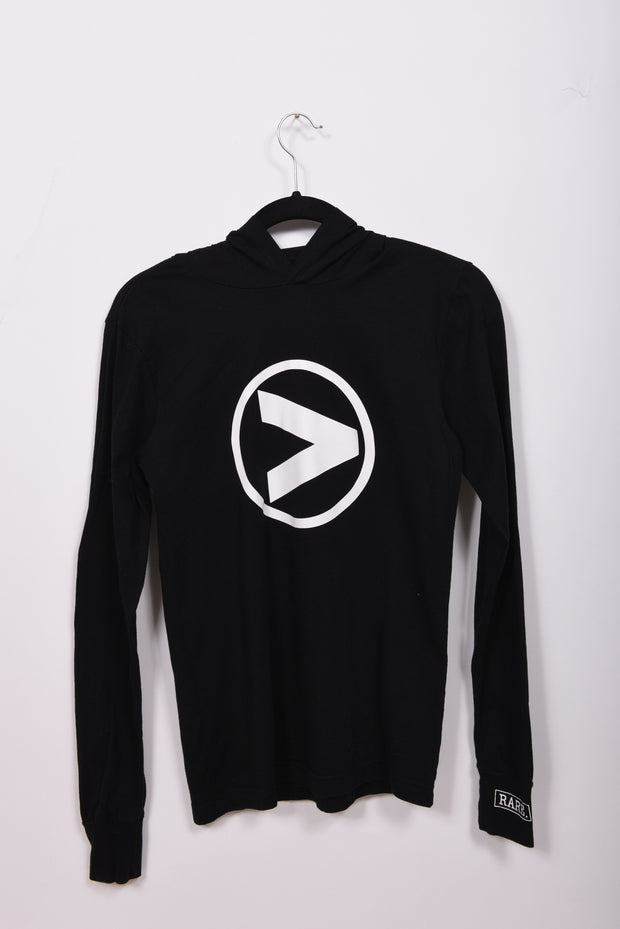 Greater Than _______. Logo Lightweight Hooded Long Sleeve Tee - RARE.