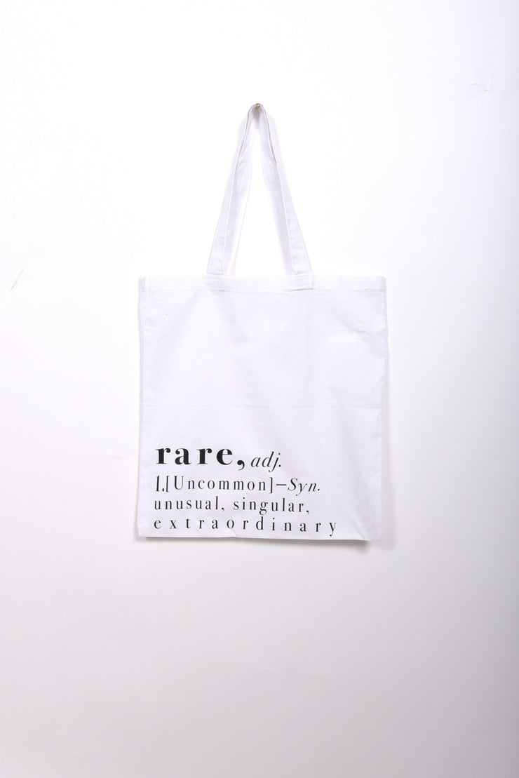 RARE. Definition light canvas tote - RARE.