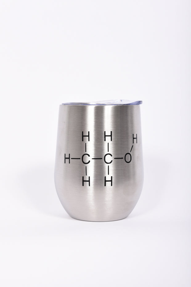 Alcohol Chemical Compound Bev Stainless Steel Tumbler - RARE.