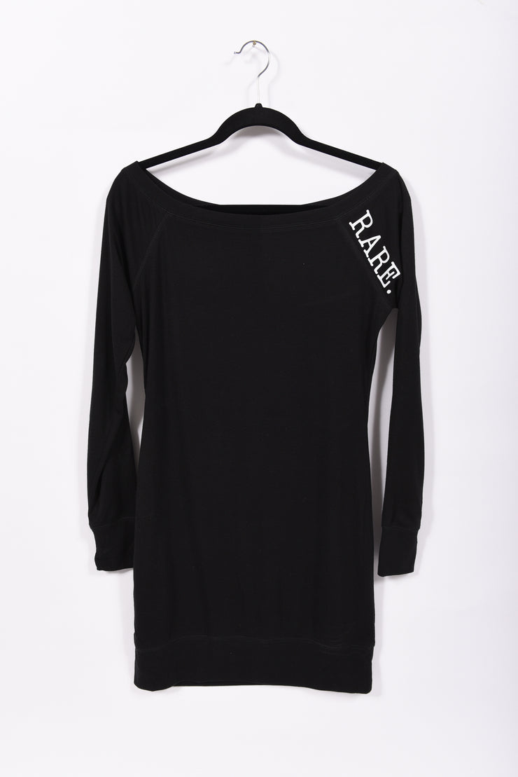Fashion has RARE. Meaning statement scoop neck long sleeve sweater dress