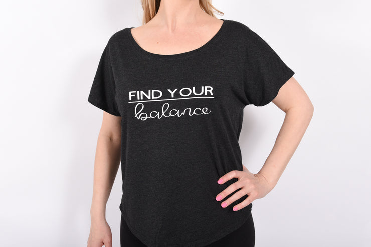 Find your Balance Ladies Tri-blend Dolman Tee - RARE.