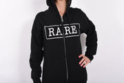 RARE. Signature Logo Unisex Fleece Zip Up Sweatshirt - RARE.