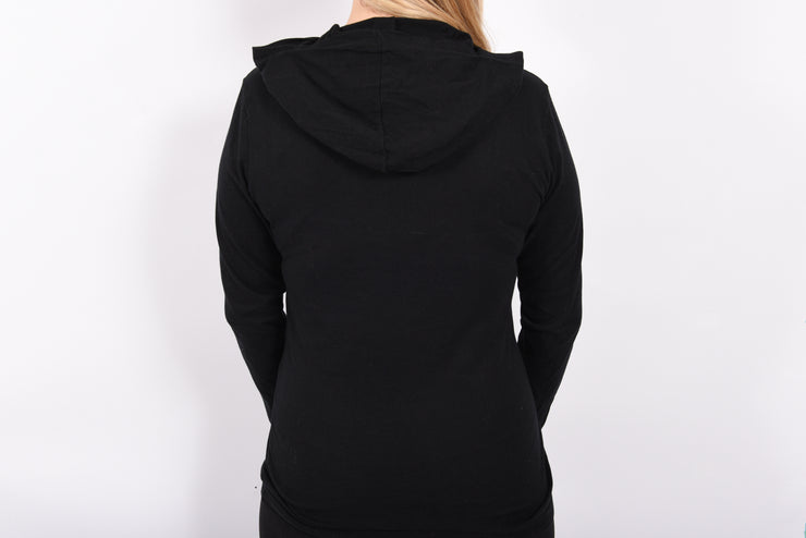Greater Than _______. Logo Lightweight Hooded Long Sleeve Tee