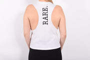 Be RARE. Racerback cropped muscle tank