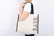 RARE. Heavy canvas with black trim necessity tote - RARE.