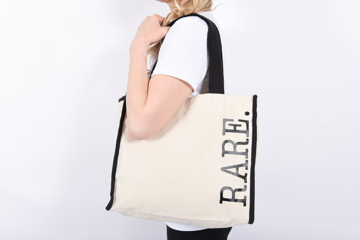 RARE. Heavy canvas with black trim necessity tote