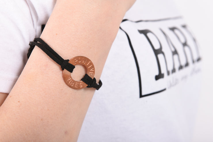 Empowering Hand-Stamped Bracelet - Copper - RARE.