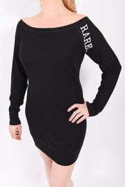 Fashion has RARE. Meaning statement scoop neck long sleeve sweater dress - RARE.