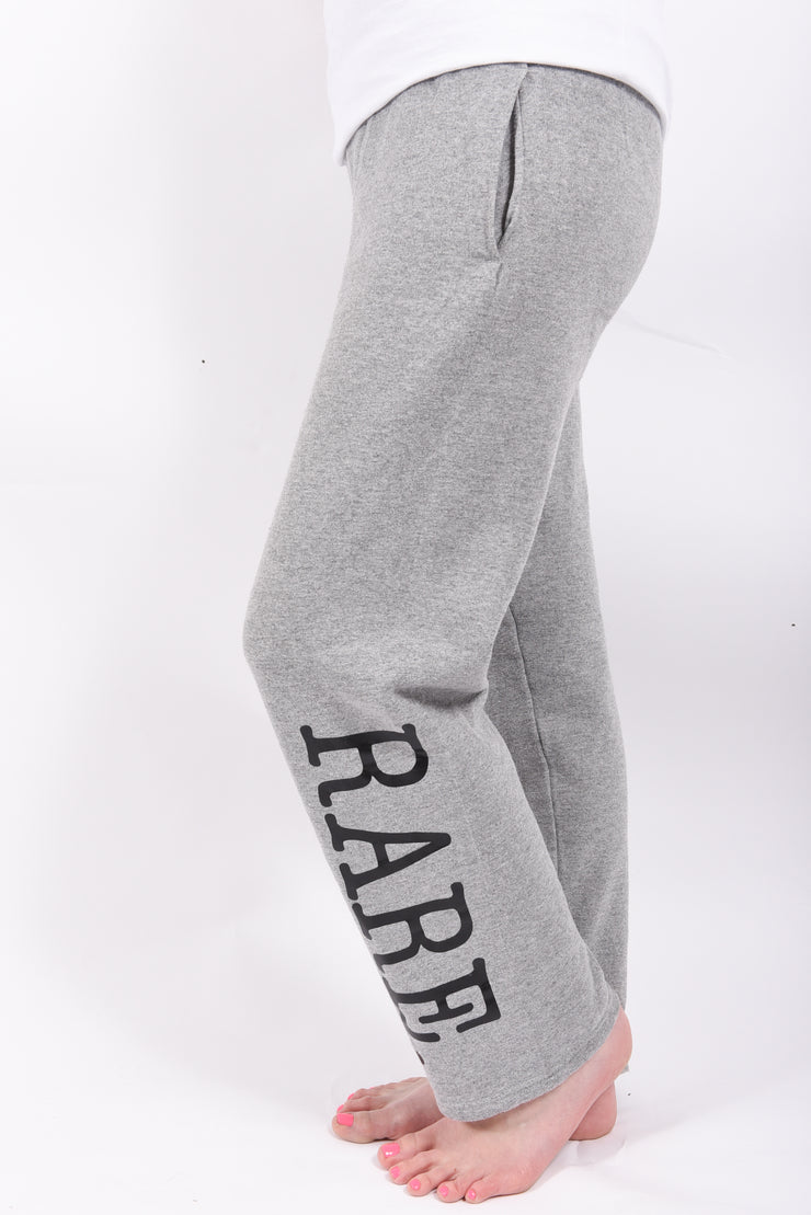 RARE. Essential Unisex Open Bottom Fleece Sweatpants - RARE.