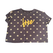 Be Free Cropped Star Cropped Tee - RARE.