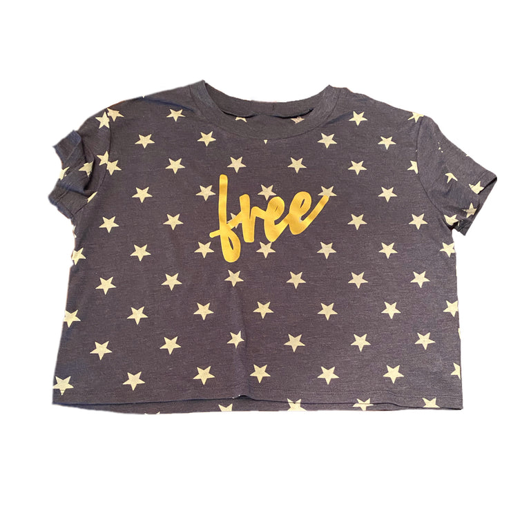 Be Free Cropped Star Tee - RARE.