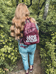 Leave your Mark Leather Back pack - RARE.